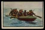1954 Bowman Power for Peace #30   Marines Inflate Boats Fast Front Thumbnail