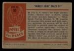 1954 Bowman Power for Peace #59   Honest John Takes Off Back Thumbnail