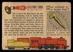 1955 Topps Rails & Sails #70   Electric Locomotive Back Thumbnail