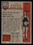 1957 Topps #73  Jim Paxson  Back Thumbnail