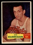 1957 Topps #63  Bob Harrison  Front Thumbnail