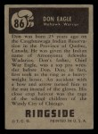 1951 Topps Ringside #86  Don Eagle  Back Thumbnail