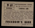 1950 Topps Freedoms War #69   Careful Aim Back Thumbnail
