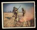 1950 Topps Freedoms War #75   Gas Attack   Front Thumbnail
