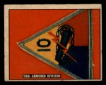 1950 Topps Freedoms War #189   10th Armored Div.  Front Thumbnail