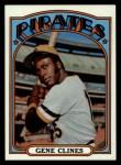 1972 Topps #152  Gene Clines  Front Thumbnail