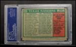 1975 Topps #511   -  Billy Martin Rangers Team Checklist Back Thumbnail