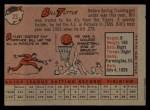1958 Topps #23 WN Bill Tuttle  Back Thumbnail