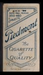 1909 T206 BAT Rube Oldring  Back Thumbnail