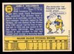 1970 Topps #389 ERR Jim Shellenback  Back Thumbnail