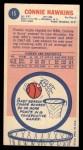 1969 Topps #15  Connie Hawkins  Back Thumbnail