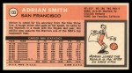 1970 Topps #133  Adrian Smith   Back Thumbnail