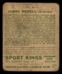 1933 Goudey Sport Kings #26  James Wedell   Back Thumbnail