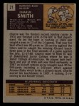 1971 Topps #21  Charlie Smith  Back Thumbnail