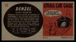 1961 Topps Sports Cars #38   Denzel Back Thumbnail