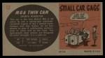 1961 Topps Sports Cars #13   Mga Twin Cam Back Thumbnail