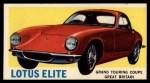 1961 Topps Sports Cars #66   Lotus Elite Front Thumbnail