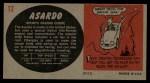 1961 Topps Sports Cars #12   Asardo Back Thumbnail