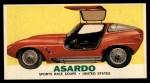 1961 Topps Sports Cars #12   Asardo Front Thumbnail