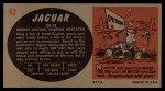 1961 Topps Sports Cars #62   Jaguar XK-SS Back Thumbnail
