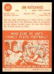 1963 Topps #55  Jim Katcavage  Back Thumbnail