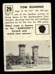 1951 Topps Magic #29  Tom Rushing  Back Thumbnail