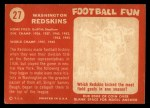 1958 Topps #27   Redskins Team Back Thumbnail
