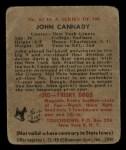 1948 Bowman #82  John Cannady  Back Thumbnail