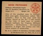 1950 Bowman #25  Bosh Pritchard  Back Thumbnail