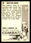 1964 Donruss Combat #40   Run for Cover Back Thumbnail