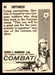 1964 Donruss Combat #44   Captured! Back Thumbnail