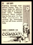 1964 Donruss Combat #22   Cut Off! Back Thumbnail