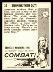 1964 Donruss Combat #10   Smoking Them Out! Back Thumbnail