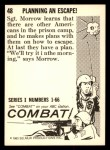 1964 Donruss Combat #48   Planning an Escape! Back Thumbnail