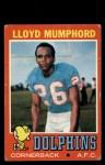 1971 Topps #17  Lloyd Mumphord  Front Thumbnail
