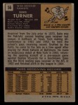 1971 Topps #56  Bake Turner  Back Thumbnail