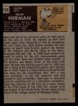 1971 Topps #124  Dave Herman  Back Thumbnail