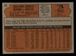 1972 Topps #83  Dalton Jones  Back Thumbnail