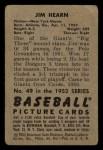1952 Bowman #49  Jim Hearn  Back Thumbnail