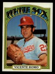 1972 Topps #499  Vicente Romo  Front Thumbnail