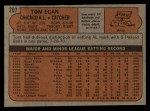 1972 Topps #207  Tom Egan  Back Thumbnail