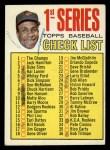 1967 Topps #62 R  -  Frank Robinson Checklist 1 Front Thumbnail