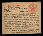 1950 Bowman #78  Dante Lavelli  Back Thumbnail