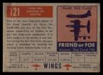1952 Topps Wings #121   SAAB 29A Back Thumbnail