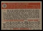 1952 Topps #221  Granny Hamner  Back Thumbnail