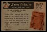 1955 Bowman #157 ERR Ernie Johnson  Back Thumbnail