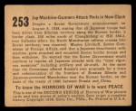 1938 Gum Inc. Horrors of War #253   Jap Machine-Gunners Attack Reds in New Clash Back Thumbnail
