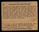 1941 Gum Inc. War Gum #36   MacArthur's Men Beat Off Japanese Back Thumbnail