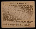 1941 Gum Inc. War Gum #43   2nd Lieut. A R Nininger, Jr. Back Thumbnail