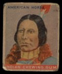 1933 Goudey Indian Gum #43  American Horse   Front Thumbnail